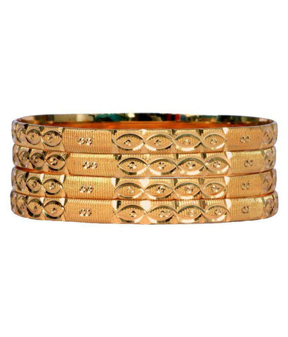 Golden Color Alloy Bangles - Aangi-ban16