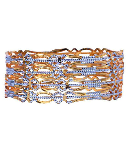 Golden Color Alloy Bangles - Aangi-ban2