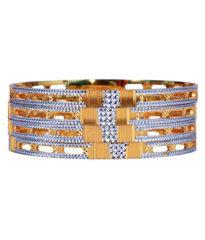 Golden Color Alloy Bangles - Aangi-ban3