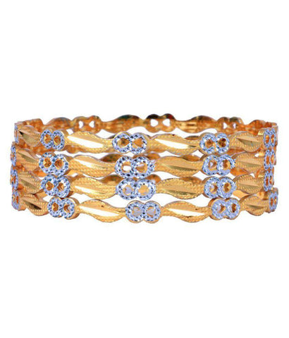 Golden Color Alloy Bangles - Aangi-ban4