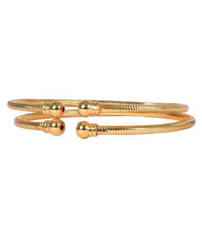 Golden Color Alloy Bangles - Aangi-ban5