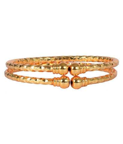 Golden Color Alloy Bangles - Aangi-ban6