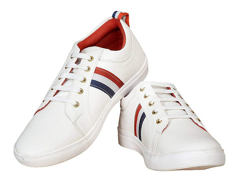 White Color PU Men's Shoes - Ample-3