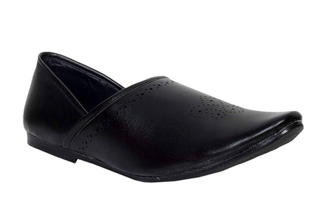 Black Color Synthetic Men's Shoes - Ample-6