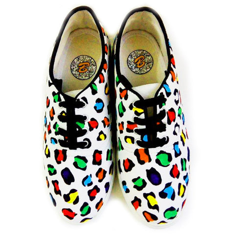 Multi Color  Canvas Unisex Shoe - Animal-Pattern-1