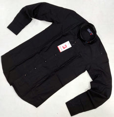 Black Color Pure Cotton Men Shirt - B-1