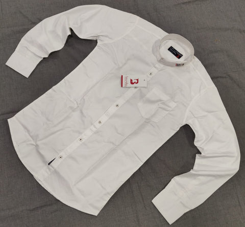 White Color Pure Cotton Men Shirt - B-2