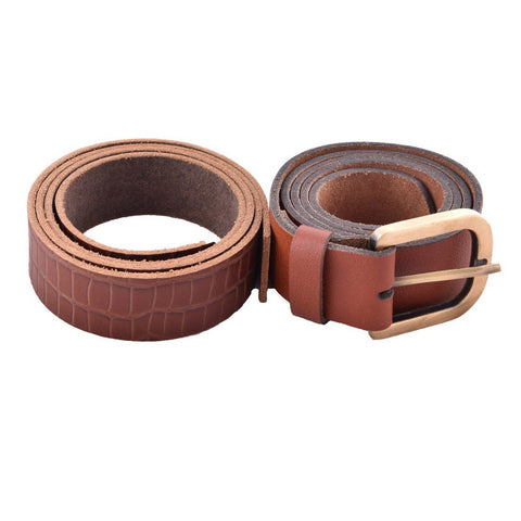 Brown Color Leather Mens Belt - B-4