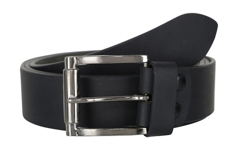 Black Color Leather Mens Belt - B175BLK