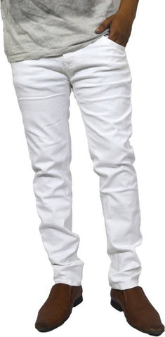 Lawson Skinny Men's White Cotton Blend Jeans - BB-105