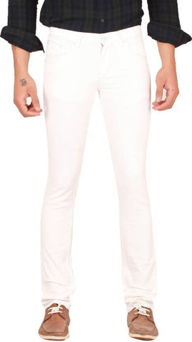 X20 Skinny Men's White Jeans - BB-123