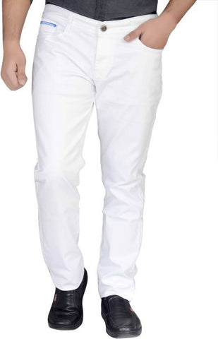 X20 Skinny Men's White Jeans - BB-125