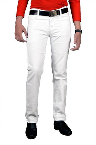 X20 Skinny Men's White Jeans - BB-126