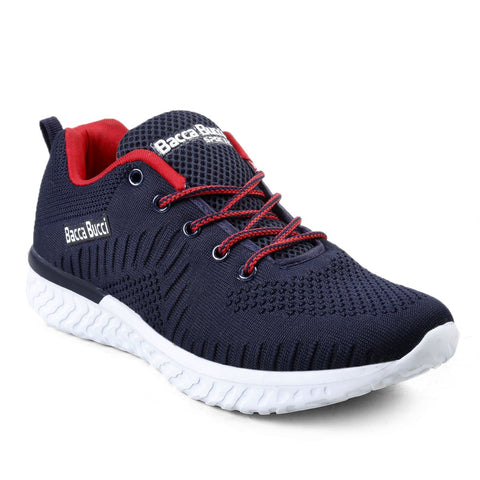 BACCA BUCCI Blue Color Textile Mens Casual Shoe - BBMG8140B