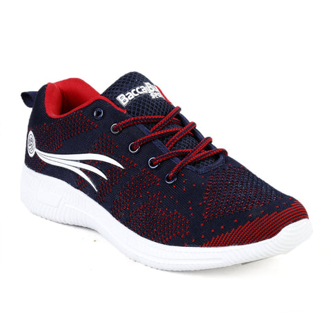 BACCA BUCCI Blue Color Mesh Mens Casual Shoe - BBMG8141B