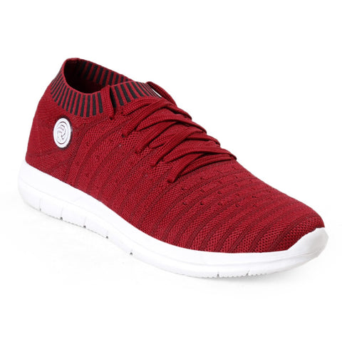 BACCA BUCCI Red Color Textile Mens Casual Shoe - BBMG8145J