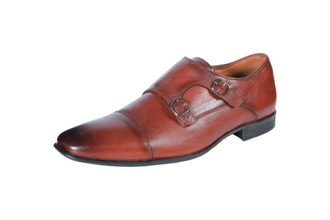 Red Color Leather Men's Formal Shoes - BCS1013