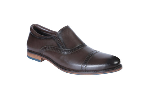Brown Color Leather Men's Formal Shoes - BCS1015