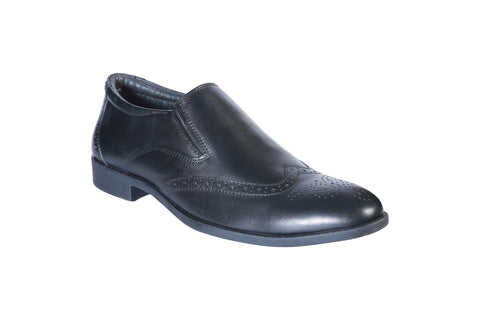 Black Color Leather Men's Formal Shoes - BCS1016