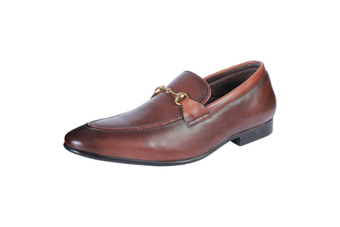 Brown Color Synthetic Men's Formal Shoes - BCS1022