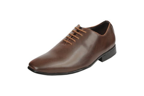 Brown Color Synthetic Men's Formal Shoes - BCS1026