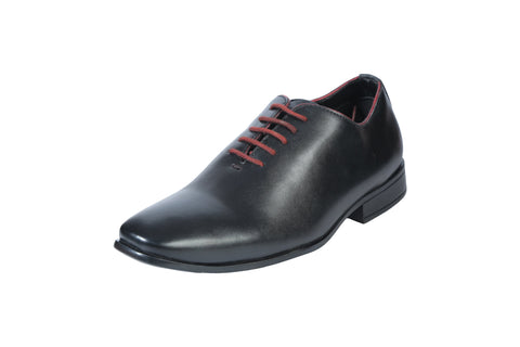 Black Color Synthetic Men's Formal Shoes - BCS1027
