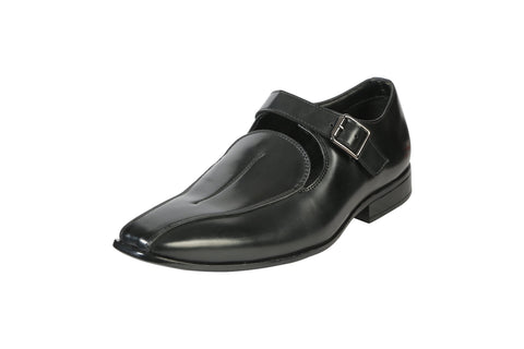 Black Color Leather Men's Formal Shoes - BCS1028