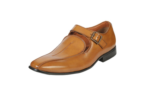 Tan Color Synthetic Men's Formal Shoes - BCS1030