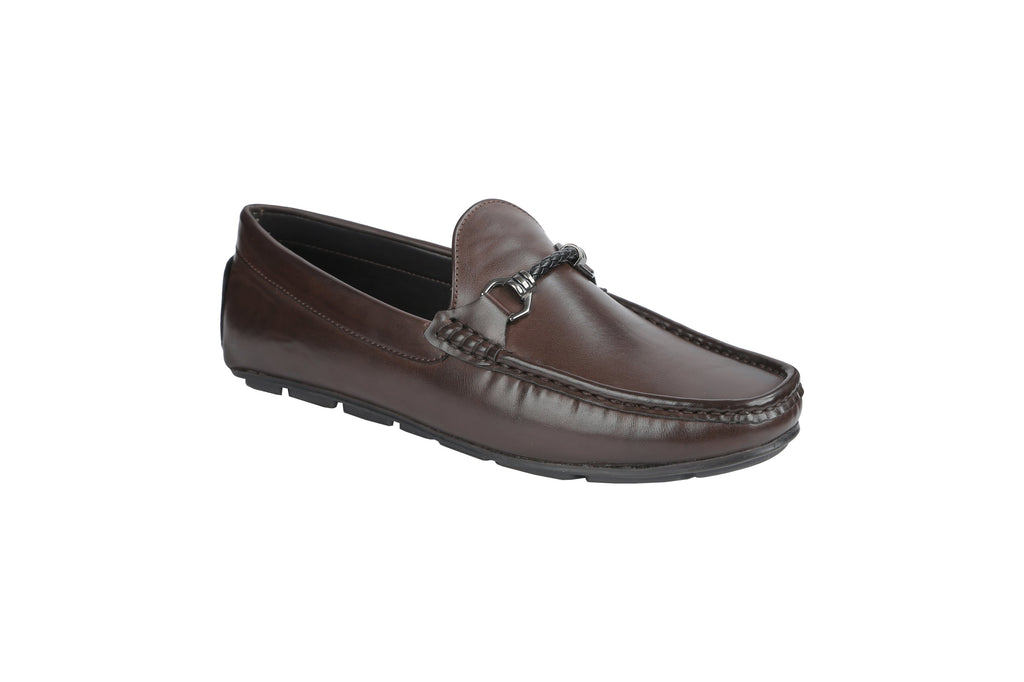 Buy Brown Color Synthetic Men's Loafers