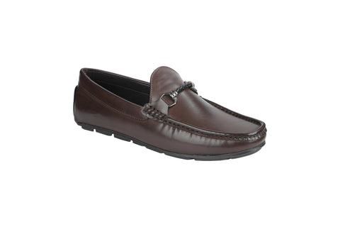 Brown Color Synthetic Men's Loafers - BCS1032