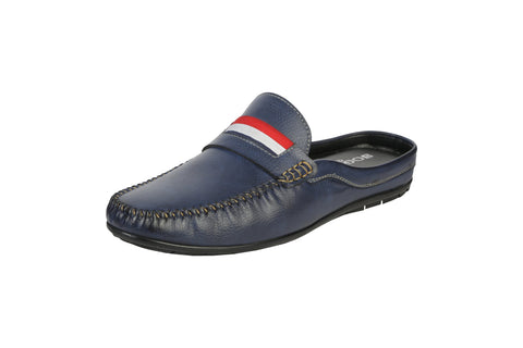 Blue Color Synthetic Men's Formal Mule - BCS1033