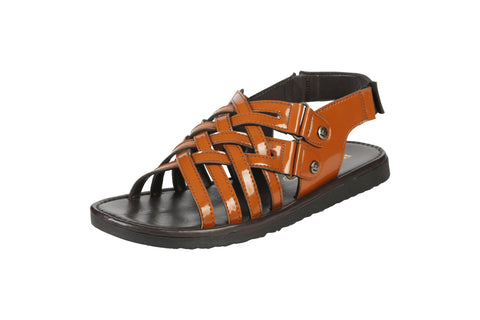 Tan Color Synthetic Men's Sandals - BCS1034