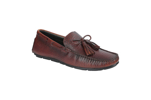 Brown Color Leather Men's Loafers - BCS1039