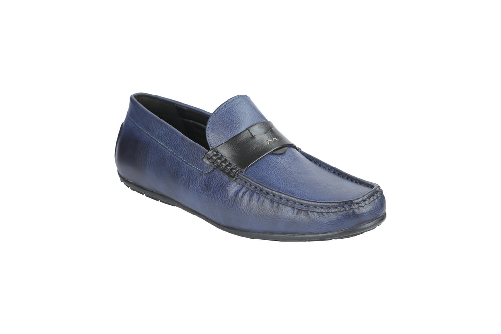 Buy Blue Color Synthetic Men's Loafers