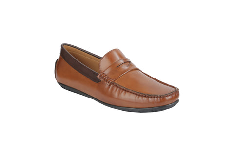 Tan Color Synthetic Men's Loafers - BCS1041