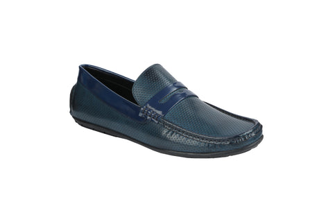 Blue Color Synthetic Men's Loafers - BCS1042