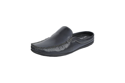 Black Color Synthetic Men's Formal Mule - BCS1043