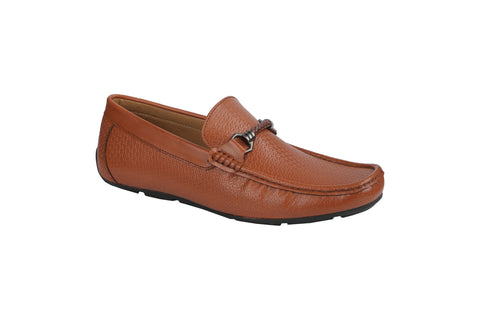 Tan Color Synthetic Men's Loafers - BCS1044