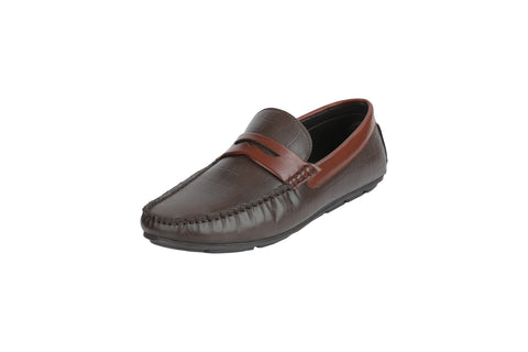 Brown Color Synthetic Men's Loafers - BCS1045