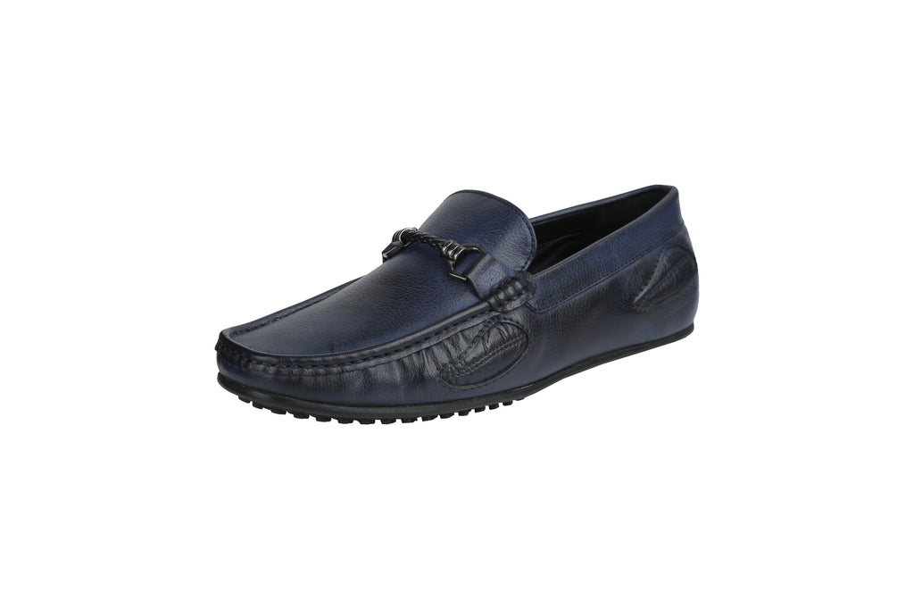 Buy Blue Color Leather Men's Loafers