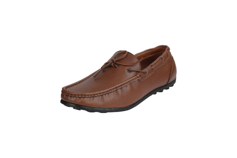 Brown Color Leather Men's Loafers - BCS1047