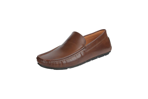 Brown Color Leather Men's Loafers - BCS1049