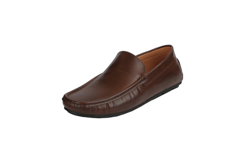 Brown Color Leather Men's Loafers - BCS1050