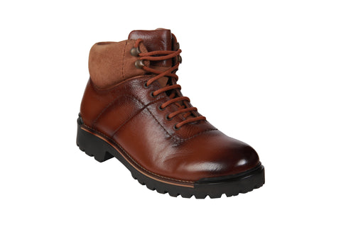 Brown Color Genuine Leather Men's Riding Boots - BCS1052BRNBOOT