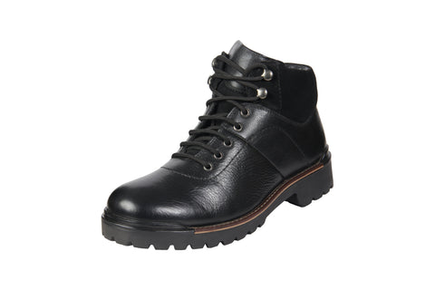 Black Color Genuine Leather Men's Riding Boots - BCS1053BLKBOOT