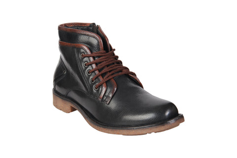 Black Color Genuine Leather Men's Riding Boots - BCS1056BLKBOOT