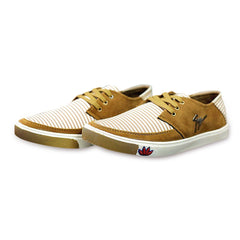 Buy Beige Color Canvas Men Shoe