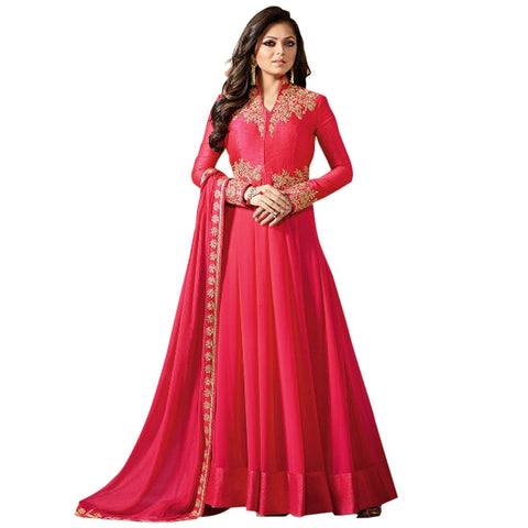 Pink Color Faux Georgette Women's Semi Stitched Salwar Suit - BF_1171_Pink