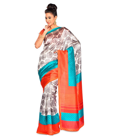 OffWhite Color Kalamkari Mysure Silk Saree - BGPSR70