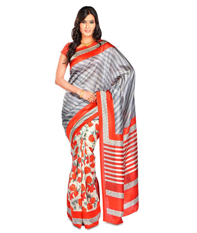 Multi Color Kalamkari Mysure Silk Saree - BGPSR72